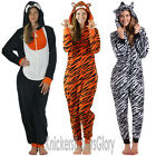 Ladies Tiger, Zebra, Penguin Onesie All In One With Hood Size 8,10,12,14,16,18