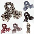 Dog Print Scarf Ladies Robin Neck Shawl Pashmina Stole Wrap Winter Warm Long