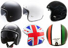MT LE-MANS LOW PROFILE SKINNY BLACK WHITE UNION OPEN FACE HELMET CRUISER BOBBER