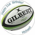 7.5 Inch Rugby Ball Edible Cake Toppers Decorations Wafer Paper