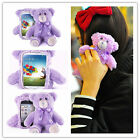 3D Lavender Bear Doll Toy Plush Case Cover For Apple iPhone 6 6S 7 Plus 4 5 3