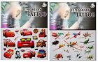 Disney Cars + Aeroplanes Pixar Cartoon TemporaryTattoo Childrens - CG-072 + 083