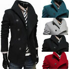 Men's Slim Fit Single Breasted Short Trench Casual Coat Jacket Peacoat Outerwear