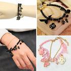 Ladies Women Stylish Flower Bowknot Chain Bracelet Crystal Bangle Jewelry Charm