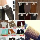 Newest Lady's Knitted Lace Trim Boot Cuffs Toppers Leg Warmers Socks 9 colours