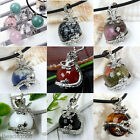 Natural Gemstone Dragon Wrap Charms Bead Ball Jewelry Pendant For Necklace DIY