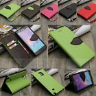 Leaf Flip Leather Wallet Card Slot Holder Soft TPU Case Cover w/Stand For Phone