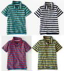 Mini Boden Boy's New Stripy Jersey Polo T-shirt Ecru Cotton 1.5-12 years