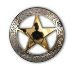 "Texas Star Concho 3/4"" with Gold Star"