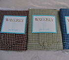 "Waverly Grid Check Window Panel:Brown or Green 84"" Length Tab Top Cotton Classic"