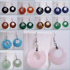 28mm Gemstone donut dangle earrings *lot of choices*
