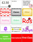 Handy mini stickers for information - first class, international, best before...