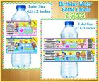 20 custom Bubble Guppies  WATER BOTTLE LABELS Birthday  Party Favor Boy and Girl
