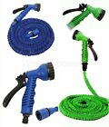 25 50 75 100 Feet Latex Expanding Flexible Garden Water Hose with Spray Nozzle