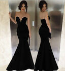 Sexy Women Cocktail Mermaid Party Formal Evening Ball Prom Gown Strapless Dress
