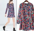 2015 Adorable print floral dress Europe Celebrity Style Slim Dress vintage retro