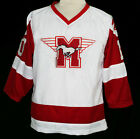 YOUNGBLOOD MOVIE JERSEY - Rob Lowe  HAMILTON MUSTANGS  SEWN  WHITE  NEW ANY SIZE