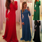 Bridesmaids Slim Sexy Lace fORMAL Wedding Evening Cocktail Prom Long Maxi Dress