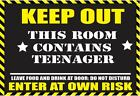 """""""WARNING TEENAGER FUNNY METAL SIGN / PLAQUE great gift"""