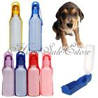 Plastic Portable Travel Pet Dog Cat Water Drink Feed Bottle Bowl 250ml 500ml