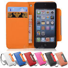 Wallet ID Credit Card Faux Leather Flip Case Cover Holder For iPhone 4/4s 5/5s
