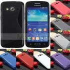 S Line Soft TPU Gel Silicone Case Cover For Samsung Galaxy Core LTE 4G/ SM-G386F