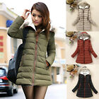 Womens Ladies Girls Casual Winter Parka Coats Hoodies Padded Jacket Outwear Tops