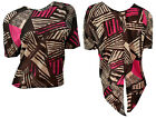 EX PRIMARK LADIES SHEER TRIBAL PRINT HIGH LOW HEM SHORT SLEEVE BOX TOP-UK 6-18