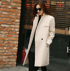 Hot fashion Women Winter Slim Long Parka Sexy Woollen Coat Jacket Overcoat New