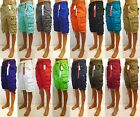 Men's PJ MARK khaki blue black white red navy purple cargo shorts w/ belt 91301
