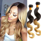 """Beauty-INDIAN Ombre Human Hair Extension 1b27# Body Wave 100g/pc 10""""-30"""" New Hot"""