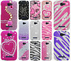 Alcatel OneTouch Pop Icon Crystal Diamond BLING Hard Case Phone Cover Accessory