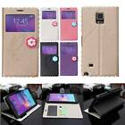 Flip View Leather Wallet TPU Case Cover Stand For Samsung Galaxy Note 4 N9100