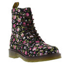 New Dr Martens 1460 Page Womens Canvas Boots Ladies Shoes Size UK 3-9