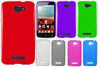 Alcatel OneTouch Pop Icon TPU CANDY Gel Flexi Skin Case Cover + Screen Protector