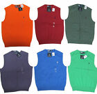 Polo Ralph Lauren Mens V Neck Pima Italian Cotton Knit Pony Logo Sweater Vest
