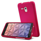 For Alcatel OneTouch Pop Icon Rubberized HARD Case Phone Cover + Screen Guard