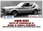 QA-921 1973-75 AMC - AMERICAN MOTORS - GREMLIN X - SIDE STRIPE DECAL