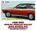 QA-969 1968-69 AMC - AMERICAN MOTORS - JAVELIN - RALLY STRIPE DECAL - TWO COLOR