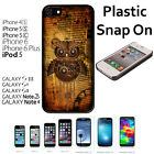 Steampunk Owl Custom Case For iPhone 4S/5/5S/5C/6/6+Galaxy S4/S5-Snap On