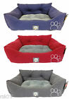 Embroidered Oblong Pet Bed, Soft Fluffy Cat Dog Beds, Pooch Products 65 x 50 cm