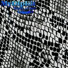 Hydrographics Film Water Transfer Hydro Black & Clear Snake Skin AP-161-FILM