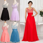 FREE SHIP RED BEADED Prom Dresses Graduation Bridesmaids Formal Party Gown Dress