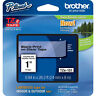 "Brother TZ151 TZe151 1"" inch 24mm black on clear TZ tape PT520 PT2430 P-Touch"