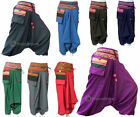 Hmong Pants Mens / Womens Gypsy Boho Hippie Aladdin Baggy Genie Hammer Trousers