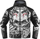Icon Merc Vitriol Skull Textile White Black Motorcycle Riding Jacket D3O