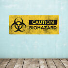 Biohazard Warning Sign Wall Decal / Grunge Look Novelty Sticker - Small or Large