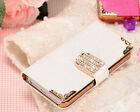 "Luxury Crystal Wallet Leather Flip Case Cover For iPhone 6 Plus 5 5S 4.7"" 5.5"""