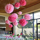 "New 6"" 8"" 10"" Fashion Tissue PomPoms Paper Flowers Ball Wedding Party Decoration"