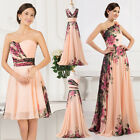 NEW Homecoming LONG Chiffon Floral Evening Party Bridesmaid Wedding Prom Dresses